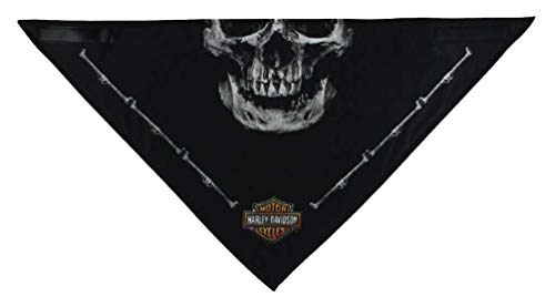 Harley-Davidson Men's 3-in-1 Convertible Deadly Jaw Bandana, Black (Harley Davidson Convertible)