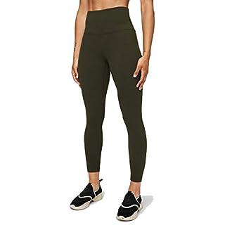 Lululemon Align II Stretchy Yoga Pants - High-Waisted Design, 25 Inch Inseam, Dark Olive, Size 8