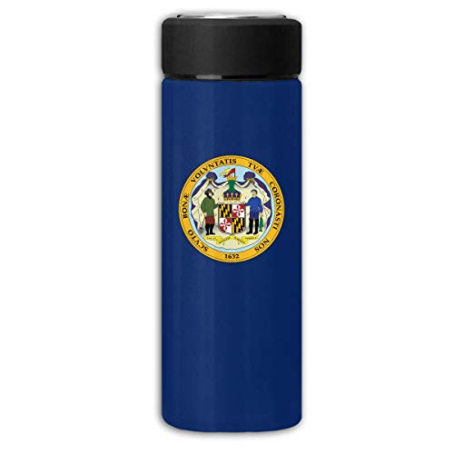Maryland State Business Scrub Thermos Cup Stainless Steel Vacuum Thermos Flask Keeps 18 Hours Hot 13 Oz (350ml)