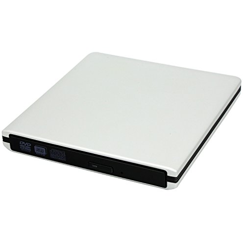 USB Slot-in Enclosure Case Optical Drive (Silver) - 7