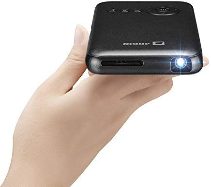 Aodin Mini Portable Projector, Outdoor Pico Projector, DLP Android 7 1,  1080P Supported Wireless Projector, APP, 120