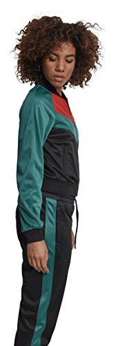 Multicolore green Red Urban Sportiva black Giacca Raglan Short Classics Donna fire Jacket 01225 Ladies Track RwzHPqRx