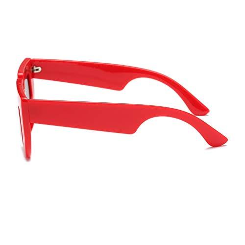 Sol Hombre Polarizadas de de Regalo 400 Gafas rojo negro Lentes Cumpleaños Protección Solar marco lente para Planas UV gris P Mujer Fiesta Prettyia qxITtt