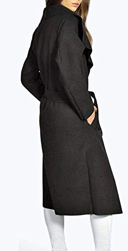 Primaverile Di Autunno Trench Donna Solidi Hipster Con Cinghia Lunga Schwarz Colori Moda Manica Costume Outerwear Cappotto Parka Giaccone Lunga Tasche E5xX5q