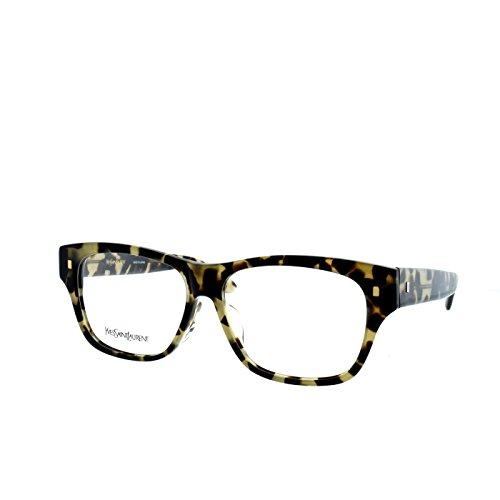 YSL Saint Laurent YSL 4024/J3Y5 Cheetah translucent brown Wayfarer eyeglasses