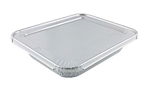 1/2 HalfSize Deep Aluminum Steam Pan w/Lids 100/PK Disposable Trays