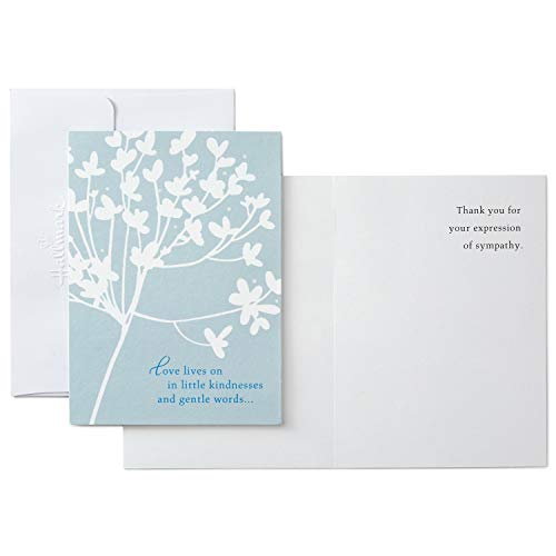 Hallmark Thank You for Your Sympathy Cards, Cherry Blossom (20 Note Cards with Envelopes)