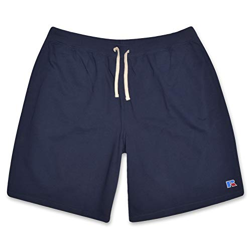 (Russell Big and Tall Mens French Terry Athletic Shorts with Heritage R Embriodered Logo Navy 1X)