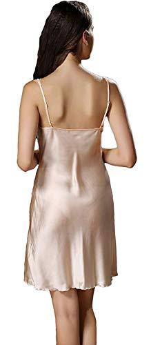 De Pijama Espalda Descubierta Color Joven Sin Dormir Suave Melon Sólido Silk Clásico Sling Cómodo Mujer Camison Camisones Mujeres Verano Elegantes Moda Gelb Vestido Mangas xqp0wwTIX