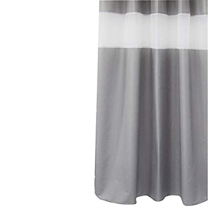 Sfoothome Gray Shower Curtain Polyester Waterproof Curtains With Light Filtering Window 72inch X