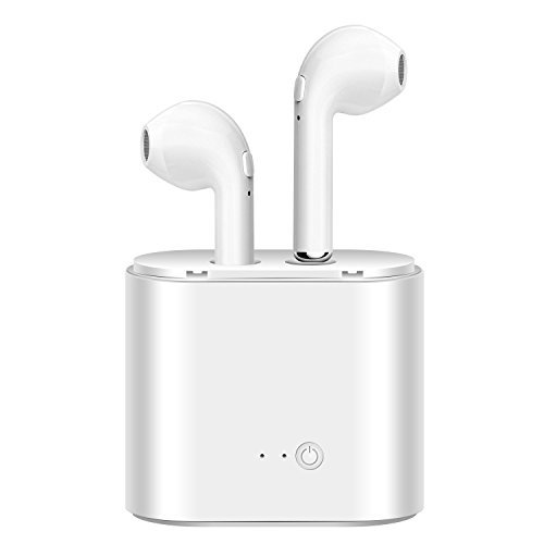 Bekhic Wireless Headphones, Wireless Earbuds Headsets Earphones Stereo In-Ear Earpieces – White by Bekhic