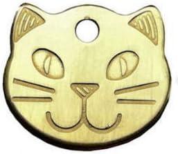 Placa identificativa para mascotas, diseño de cabeza de gato, resistente (personalizable): Amazon.es: Productos para mascotas