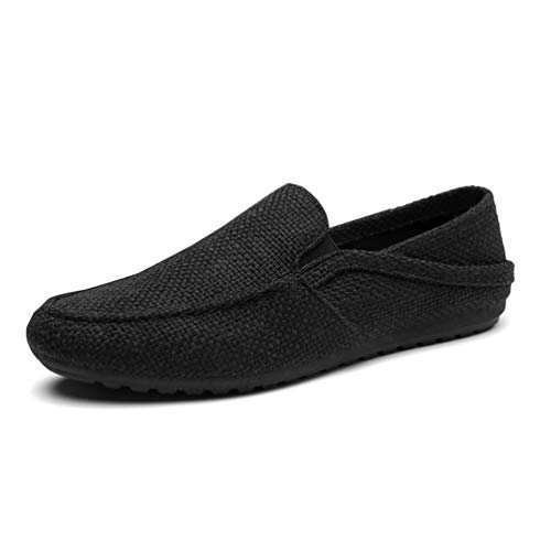 Hombres Perezosos Casuales Zapatos Negro Alpargatas De Respirables Los Mocasines EvUpnqgx