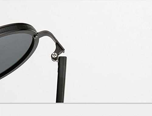 en Steampunk cadre lunettes Frame métal soleil Keephen Polarized Retro de Rose classique Round Or xgnRgpf