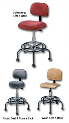 - Smo Seating, Workfit Series, H62110, Ltr. No.: B, Description: Wood Seat & Back, Seat Ht. Adj.: 19-1/2 To 21