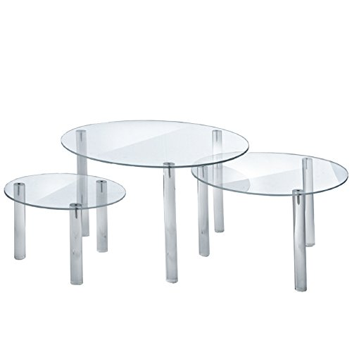 New 3-piece Round Acrylic Riser Display Set in Three Different Sizes by Round Acrylic