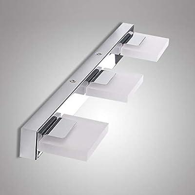 Glighone Led Spiegelleuchte Bad Spiegellampe Spiegelschrank Leuchte 12w Led Badleuchte Badlampen Wand Wandlampe Für Spiegel Aus Kristalledelstahl