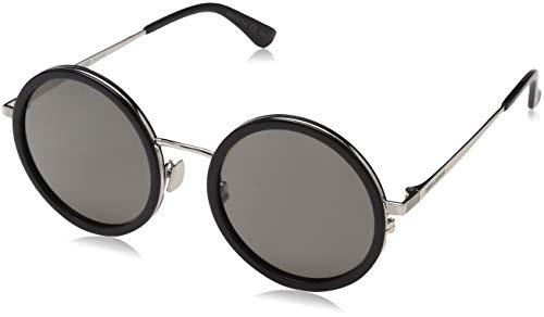 Glasses 136 (Saint Laurent SL 136 COMBI Sunglasses 001 Black/Silver / Grey Lens 52 mm)