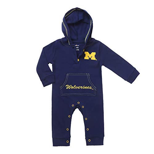Michigan Wolverines Baby and Toddler Hooded Romper (6M) Blue]()
