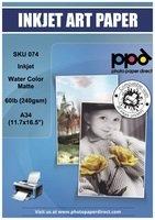 16.5' Fine Art Paper (PPD Inkjet Matt Watercolor Paper A3 (11.7x16.5'') 64lb 240gsm x 25 Sheets (PPD075-25))