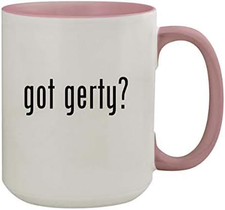 got gerty? - 15oz Colored Inner & Handle Ceramic Coffee Mug, Pink