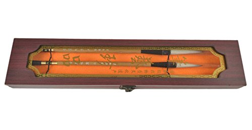Natural Bamboo Chinese Calligraphy / Kanji / Sumi Drawing Brush-Set of 3 Size