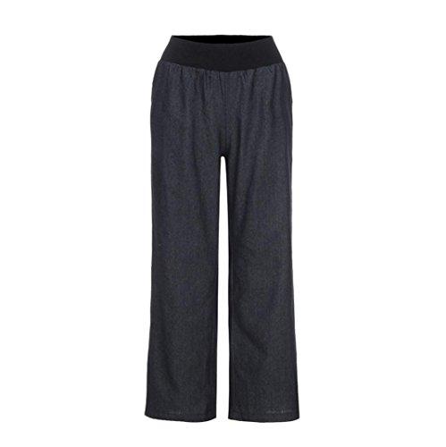 AmyDong Yoga Pants, Women Casual High Waist Trousers Elasticity Denim Wide Leg Jeans Yoga Long Pants Leggings Sports Shorts (XL, - Bikini High Denim Waist