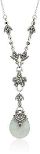 Sterling Marcasite Y Shaped Necklace Extender
