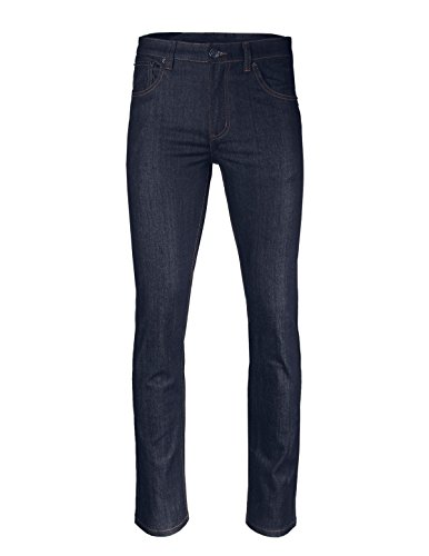 ZIMEGO Men's Slim Cut Skinny Fit Stretch Raw Denim Pants Classic Five Pocket Jeans - Classic Raw Denim