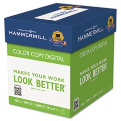 Color Copy Paper, 100 Brightness, 28lb, 8-1/2 x 11, Photo White, 2500/Carton