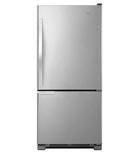 Whirlpool WRB119WFBM 18.5 Cu. Ft. Stainless Steel Bottom Freezer Refrigerator - Energy Star ()