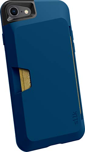 Smartish iPhone 7/8 Wallet Case - Wallet Slayer Vol. 1 [Slim + Protective + Grip] Credit Card Holder for Apple iPhone 8/7 (Silk) -Blues on the Green (Iphone 7 Phone Case With Card Holder)