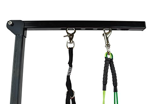 Foldable Pet Grooming Arm with Clamp, Dog Grooming Loop and No Sit Haunch Holder - Innovative Portable Grooming Arms(Black) by Downtown Pet Supply (Image #2)
