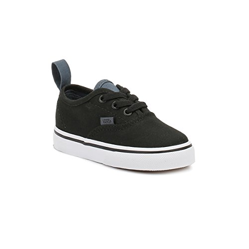Vans Authentic Niños Negro Tela Elastic Lace Slip-On Zapatillas Negro
