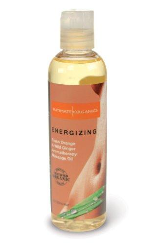 Huile de massage intime Organics énergisant, orange frais et Wild Ginger, 4 once