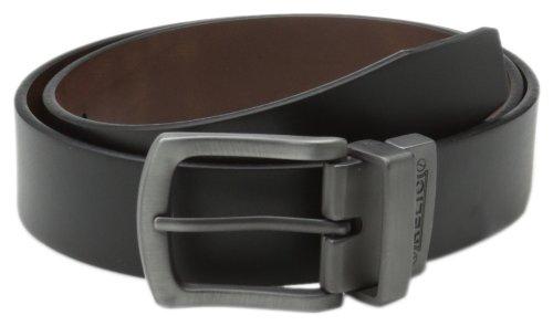 Fossil Leather Genuine Belt (Relic Men's Gun Reversible 38Mm Belt, Black,)