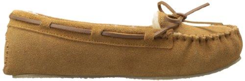 Minnetonka 4011 - Zapatillas de estar por casa para mujer Rojo (Schwarz Blk Str Faux Leather/blk Matte)