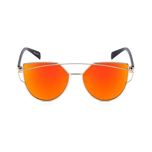 homme BONNARD Lunettes TWIG miroir Orange femme de Or soleil OqXwPptnX