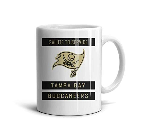 White Ceramic 11 OZ Coffee Mugs Printing Ceramic Tea Cup Friend,Dad,Grandpa,Brother Gifts,Tampa Bay Buccaneers-17,One Size ()