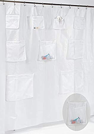 Ben Jonah Peva Shower Curtain Or Liner With 9 Mesh Storage Pockets Size 70quot