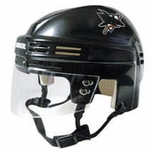 NHL San Jose Sharks Replica Mini Hockey Helmet