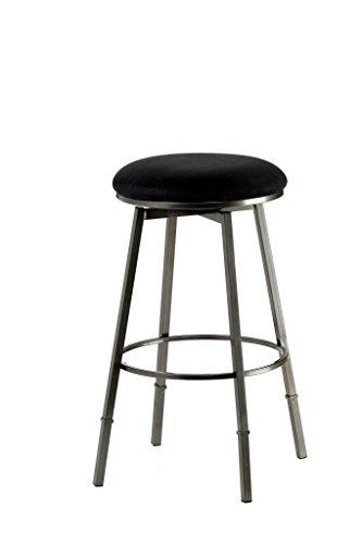 Hillsdale Furniture 4150-831 Sanders Adjustable, Pewter Bar Stool, Black Seat