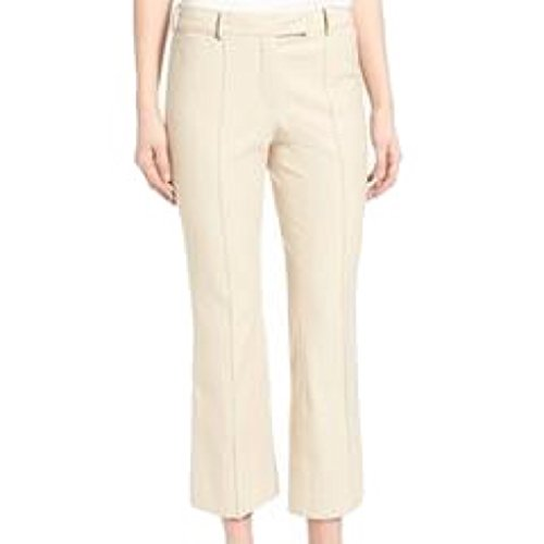 Olivia Palermo Chelsea28 Womens Center Crease Crop Dress Pants in Beige Size - Palermos Olivia