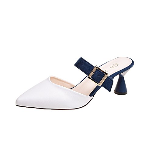Mode Talons Blanc Hauts Vives Couleurs La Et Plaques Colors Sandales Chaussures OCRxzxq
