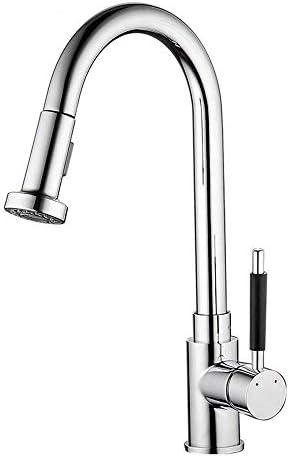 飲料水フィルタータップキッチンの蛇口ステンレス鋼シングルハンドルプルアウトキッチンシンクの蛇口プルダウンスプレー付き大口栓蛇口