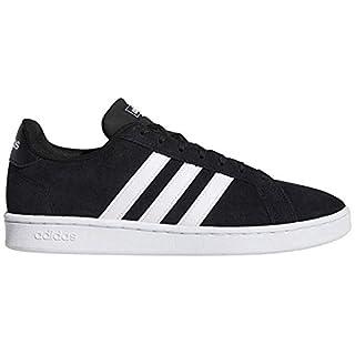 adidas Men's Grand Court Sneaker, Core Black/White/White, 4