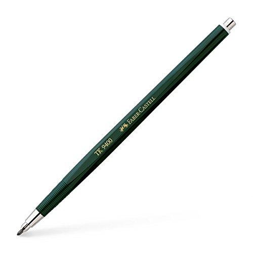 Faber-Castell Mechanical drafting pencil 2.0mm lead holder set (TK9400), 2B leads, sharpener, eraser, 2mm clutch pencil set Photo #2