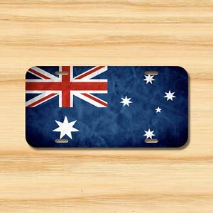 (Billion_Store Australia Flag License Plate Vehicle Auto Tag Australian Melbourne Cool Tuning)