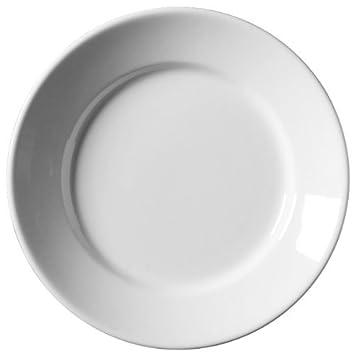 Royal Genware Deep Winged Plates 30cm - | 12inch Dinner Plates Porcelian Plates White  sc 1 st  Amazon.com & Amazon.com: Royal Genware Deep Winged Plates 30cm - | 12inch Dinner ...