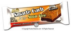 NuGo Nutrition Smarte Carb Sugar Free Bars Peanut Butter Crunch - 12 Bars by NuGo